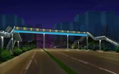 北京市丰台区三环路人行天桥夜景照明