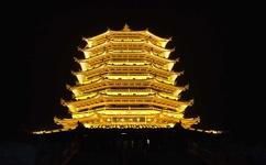 滁州笔峰塔夜景亮化