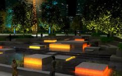 上海徐汇滨江公共公园夜景照明